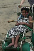 Young-girl-in-beach-wheelchair
