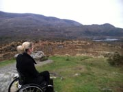 Young-female-tourist-using-wheelchair-in-Ireland