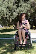 Woman-using-wheelchair-in-park